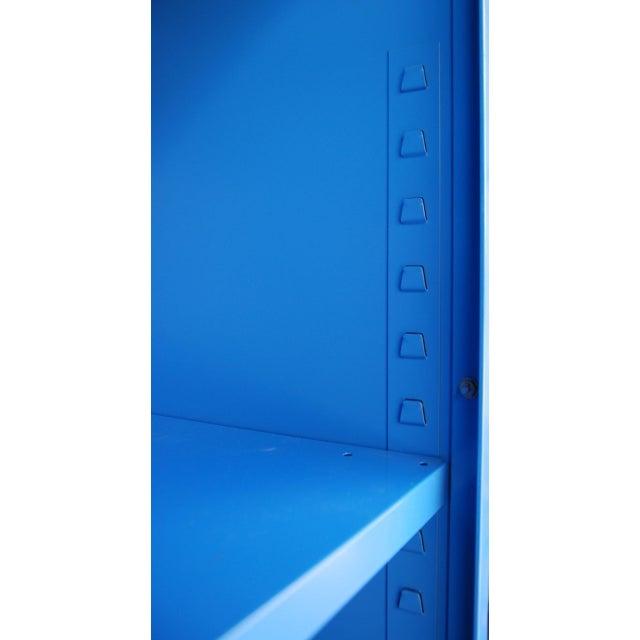 Blue Vintage Metal Bookcase - Image 5 of 5