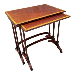 Henredon Mahogany Nesting Tables - a Pair For Sale