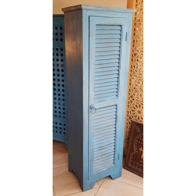 Moroccan Carved Storage Cabinet For Sale In Orlando - Image 6 of 7