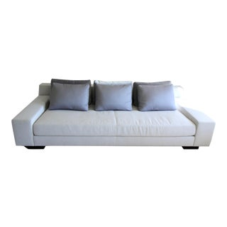 White Liaigre Augustin Sofa & Blue Pillows