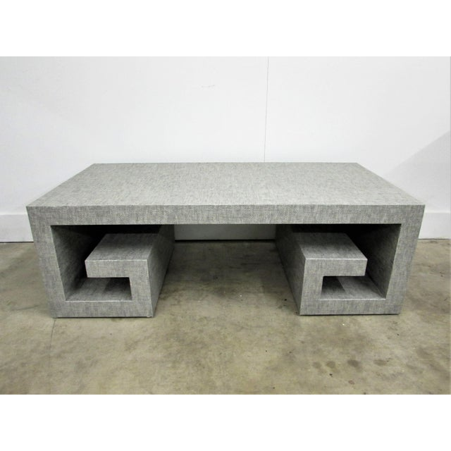 Jansen Manner Handcrafted High End Coffee Table with Greek Key Base For Sale - Image 10 of 10