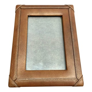 Antique Asprey London Leather Picture Frame