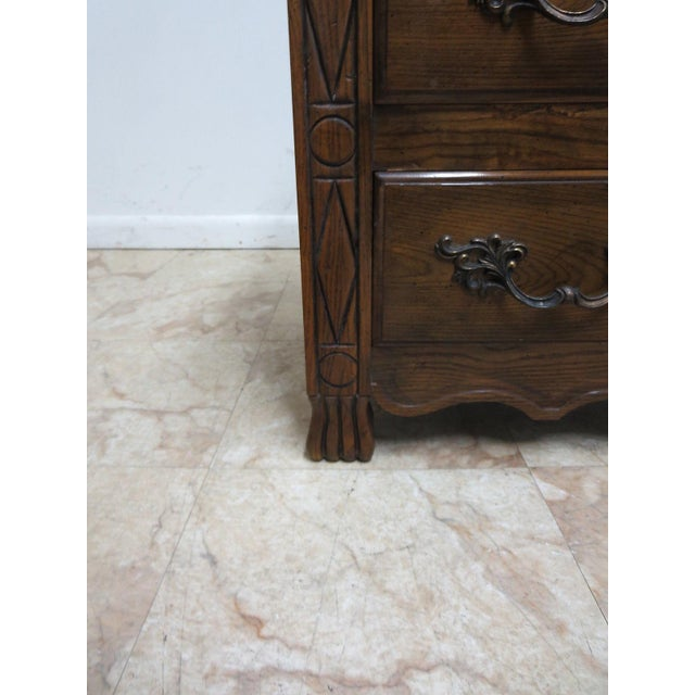 Brown Baker French Regency Paw Foot Carved Bachelor Chest Dresser For Sale - Image 8 of 9