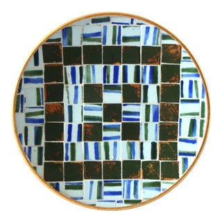 Mid-Century 1960s Mosaic Tile Round Plate For Sale