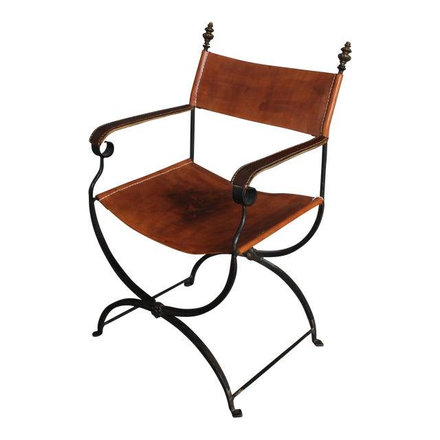 1950s Vintage Italian Renaissance Savonarola Chair For Sale