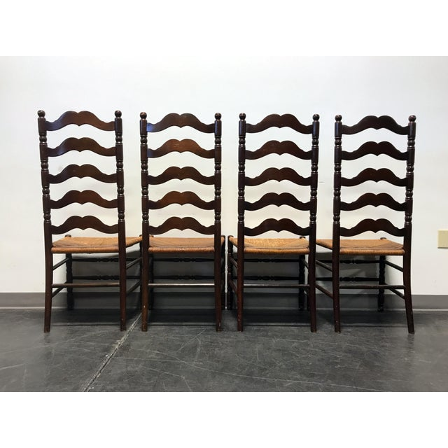 Tell City Vintage Ladder Back Dining Chairs - Set of 4 - Image 10 of 11