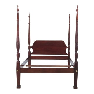 Councill Craftsmen Queen Size Mahogany Poster Bed For Sale
