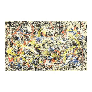 """Jackson Pollock Convergence 16"""" X 20"""" Serigraph 1991 Abstract Multicolor For Sale"""