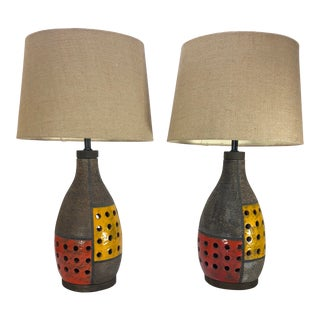 Aldo Londi for Raymor Pottery Lamps - A Pair For Sale
