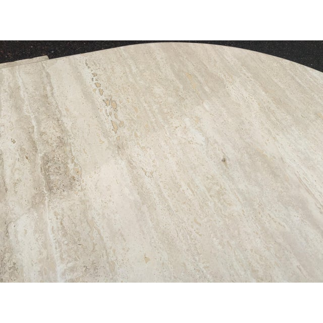 1980's Brutalist Travertine Marble Coffee Table For Sale - Image 9 of 12