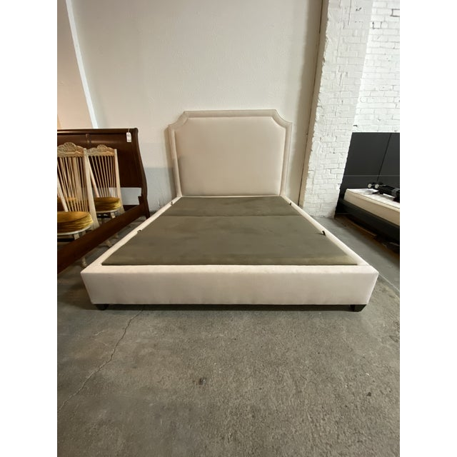 California King Nathan Anthony Brownstone Upholstered Bedframe For Sale - Image 11 of 11