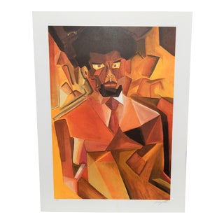 1980s Lenny White Jazz Portfolio 81 Color Lithograph For Sale