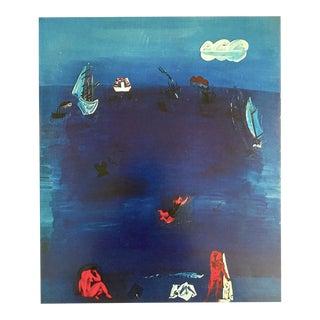 "Raol Dufy Vintage 1970 Authentic Fauvism Lithograph Print "" the Mediterranean "" 1923 For Sale"