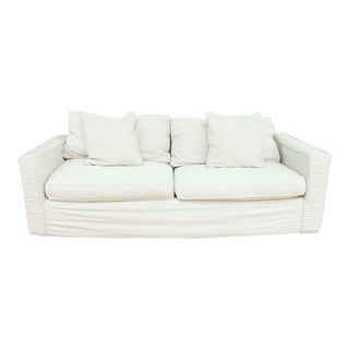 Room and Board Slip Covered Sofa For Sale
