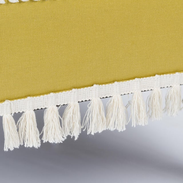 Textile Casa Cosima Sintra Chair in Citron Linen, a Pair For Sale - Image 7 of 10