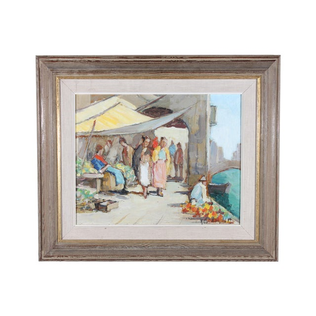 """Knut Norrman """"Venice Impressionist"""" Oil Painting - Image 1 of 3"""