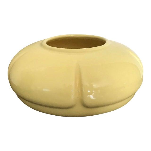 Vintage 1960s Light Yellow Mid Century Modern Flat Vase Chairish