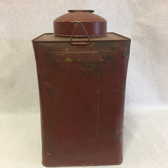Primitive Antique Tin Container For Sale - Image 3 of 11