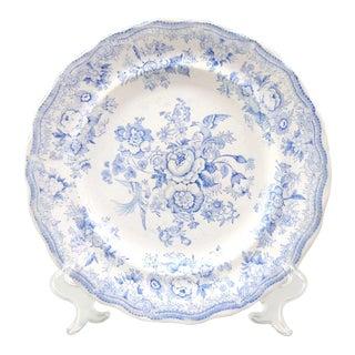 Antique English Blue Transferware Dinner Plate