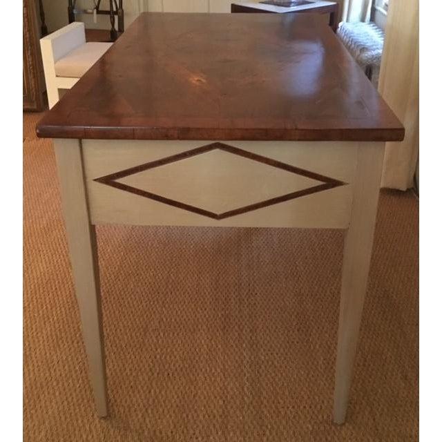 Shabby Chic Bennett Co. Custom Painted Desk For Sale - Image 3 of 8