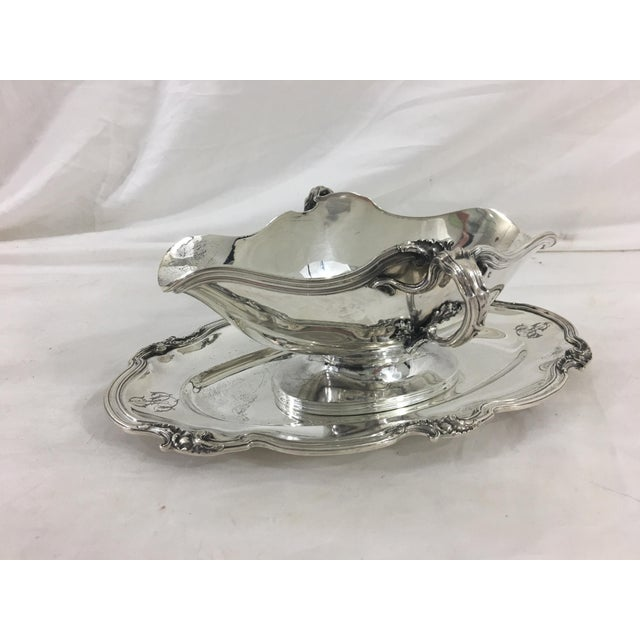 Metal French Sterling Silver Sauce Boat in Francis I Pattern With as Monogram For Sale - Image 7 of 7
