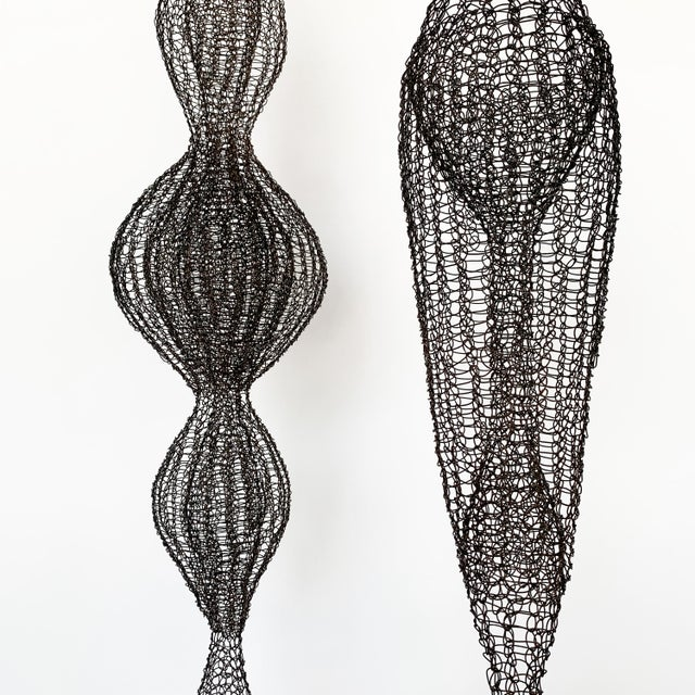 2010s d'Lisa Creager Woven Wire Hanging Sculpture For Sale - Image 5 of 11