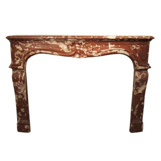 Louis XV Rosa Marble Mantel For Sale
