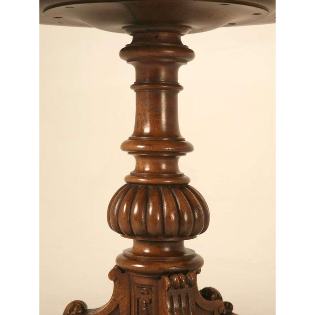 19th Century Hand Inlaid Pedestal Table For Sale In Chicago - Image 6 of 10