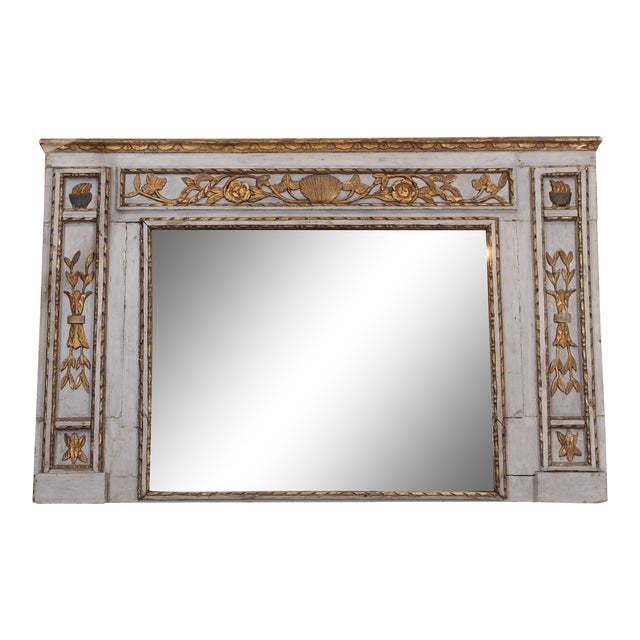 19th Century French Painted Mirror For Sale