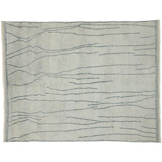 Contemporary Moroccan Modernist Style Area Rug - 8′3″ × 10′3″ For Sale