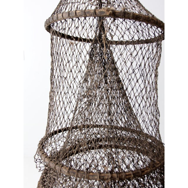 Vintage Fyke Fishing Net For Sale - Image 6 of 9