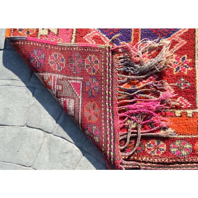 Heterodox Kurdish Runner Herki Rug. Hand-Knotted Colorful Tribal Long Runner - 3′1″× 15′6″ For Sale - Image 11 of 12