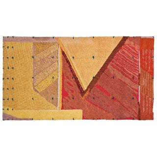 """""""Adobe De Granville"""" Wool Wall Hanging / Rug by J. Anderson For Sale"""
