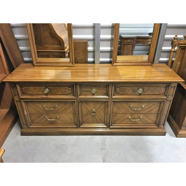 Vintage Thomasville Dresser with Wall Mirrors - Image 7 of 9