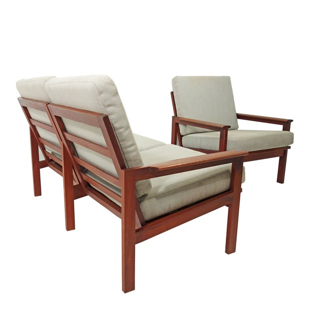 Mid-Century Wikkelso Sofa & Two Lounge Chairs - Image 5 of 9