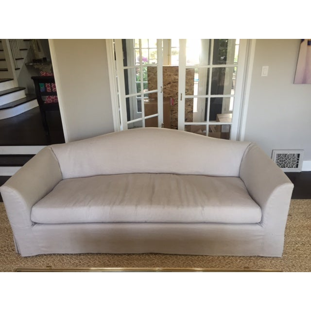 Restoration Hardware Belgian Linen Sofas - A Pair - Image 3 of 5