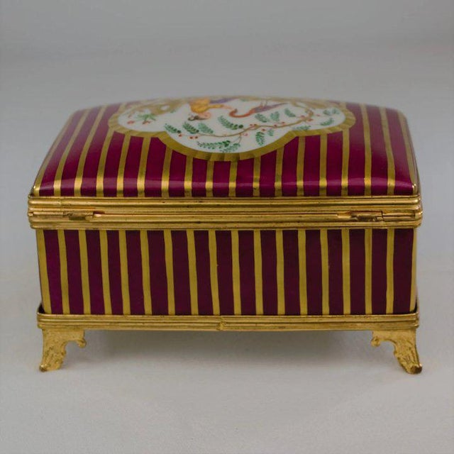 Red Atelier LeTallec Laque de Chine Porcelain Box For Sale - Image 8 of 12