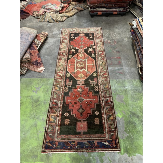 1950s Vintage Persian Runner Rug - 3′4″ × 9′ For Sale - Image 13 of 13