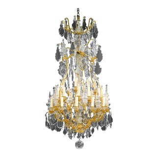 Thirty-Light Baccarat Crystal Chandelier