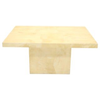 Lacquered Parchment Goat Skin Dining Conference Table For Sale
