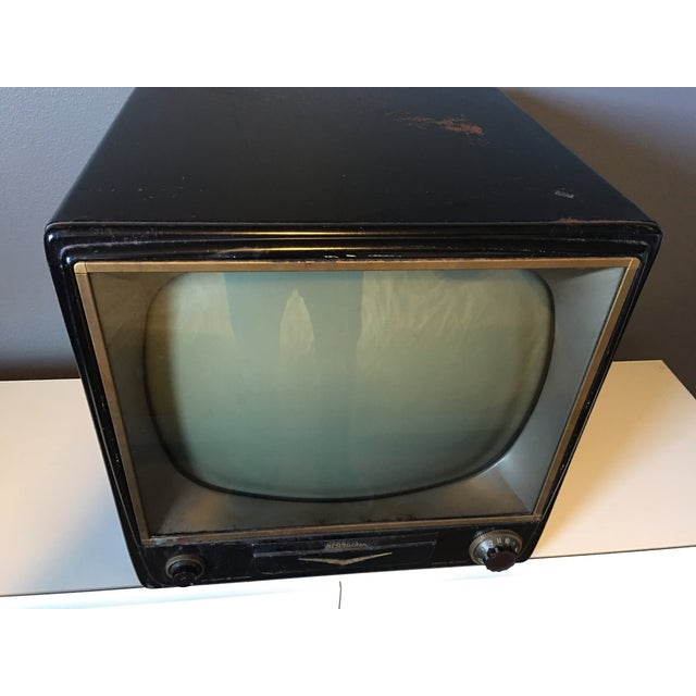 1950s Rca Television in Rare Black Metal Case - Image 6 of 8