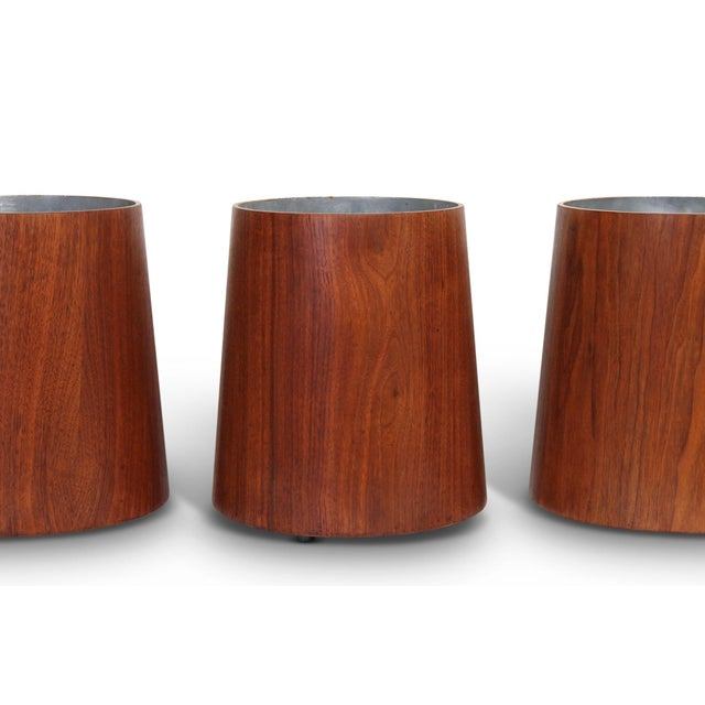 Aluminum Collection of Jens Risom Wastebaskets For Sale - Image 7 of 13