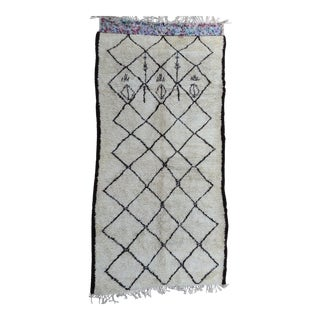 1980s Beni Ourain Rug- 7′2″ × 14′4″ For Sale