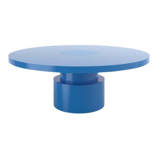 Contemporary 100C Coffee Table by Orphan Work, 2020, Blue For Sale