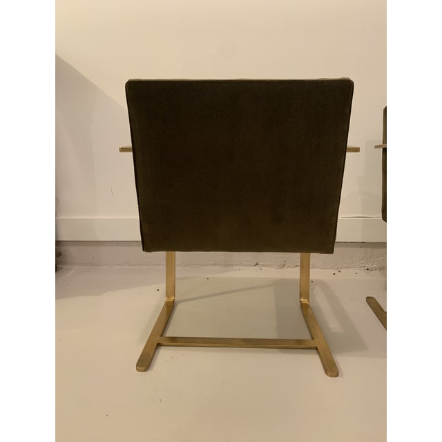 Ludwig Mies van der Rohe 1970s Vintage Brass Brno Chairs- a Pair For Sale - Image 4 of 13