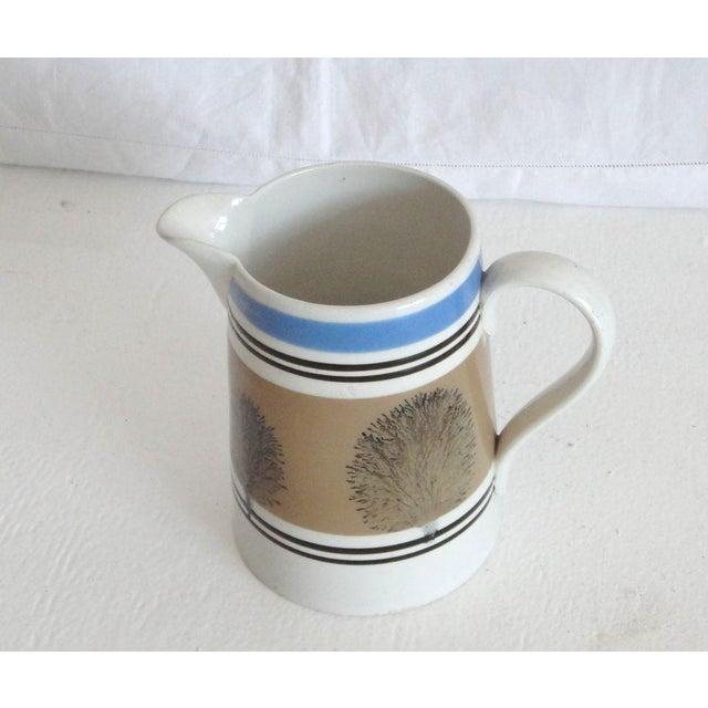 Primitive 19thc Mocha Seaweed Milk Pitcher For Sale - Image 3 of 7