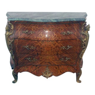 1960s French Painted Marble Top Dresser For Sale