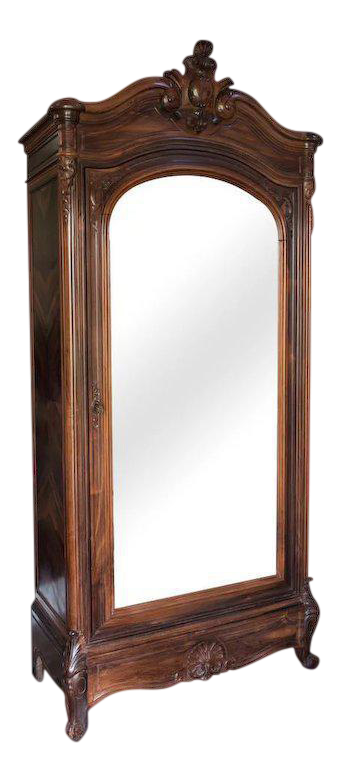 Louis XV Style Rosewood Armoire