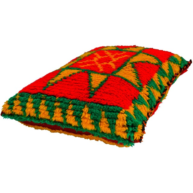 Abstract Moroccan Berber Star Pillow For Sale - Image 3 of 8