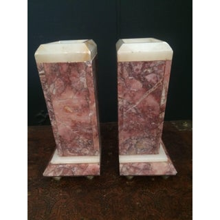Red Marble Bookends or Decorative Urns Preview